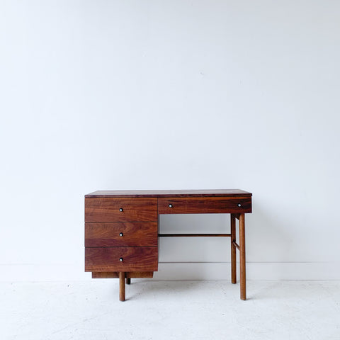 Mid Century Walnut Desk with Solid Walnut Top