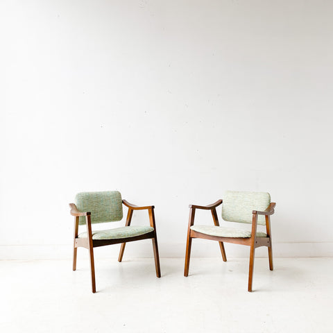 Pair of Mid Century Occasional Chairs with Tilt Backs