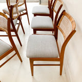 Set of 6 Rare Mid Century Modern Teak Dining Chairs by Dux - New Upholstery