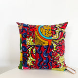 "JF11 18"" African Fabric Throw Pillow"