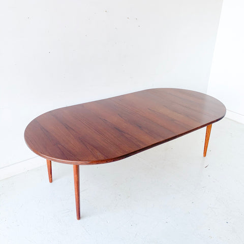 Mid Century Dining Table with 2 Leaves by J.O. Carlsson
