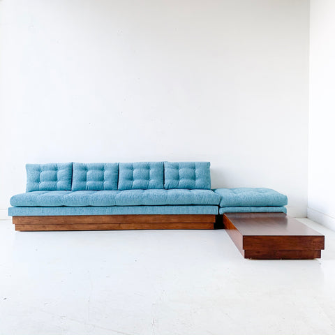 Mid Century Modern 2 Part Sofa/Sectional by Adrian Pearsall with New Upholstery