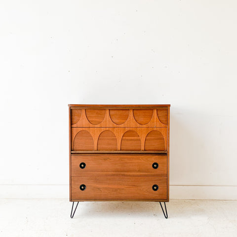 Highboy on Hairpin Legs