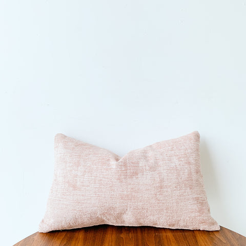 Blush Chenille Pillow