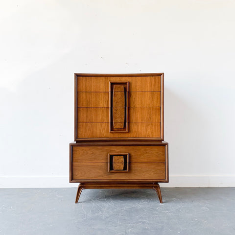 Mid Century Walnut Gentlemen's Chest