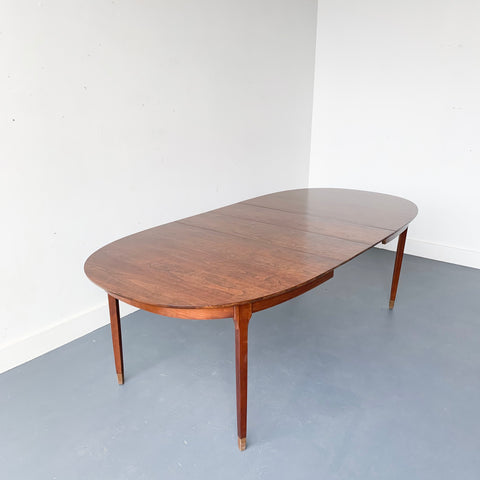 Mid Century Modern Ramseur Dining Table with 2 Leaves