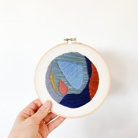Abstract Embroidered Hoop