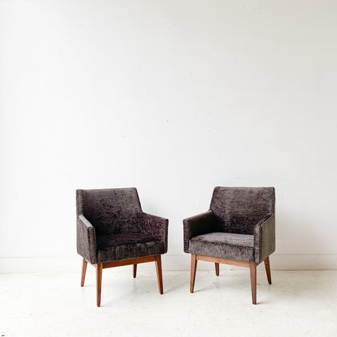 Pair of Charcoal Lounge Chairs