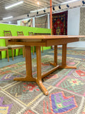 Vintage Cherry Dining Table w/ 2 Leaves