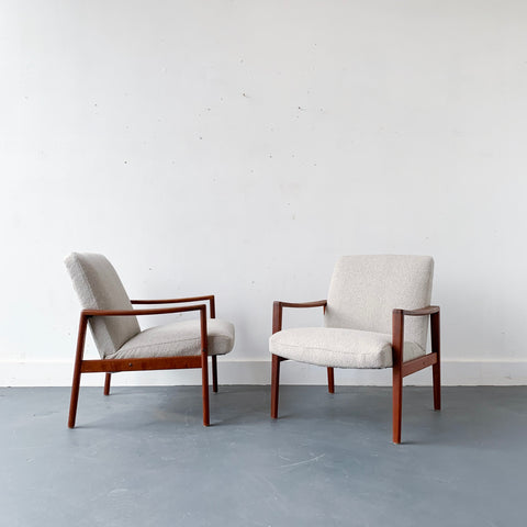 Pair of Mid Century Modern Danish Teak Lounge Chairs