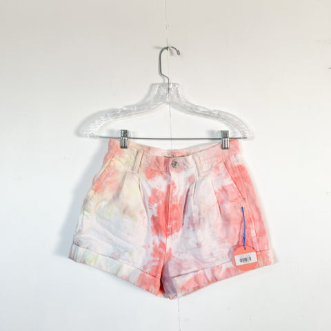 "Hand Tie-Dyed ""GAP"" Shorts - Size 4 - Highwaisted!"