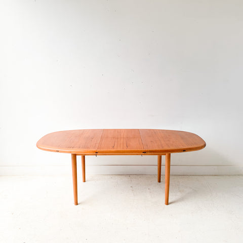 Danish Teak Dining Table with Butterfly Leaf