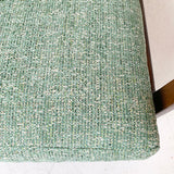 Mid Century Modern Sofa with New Green Tweed Upholstery
