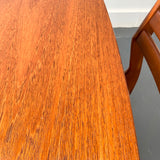 Danish Teak Dining Table with Butterfly Leaf and 4 Dining Chairs