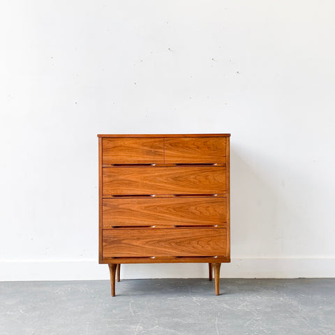 Mid Century Modern Highboy 4 Drawer Dresser