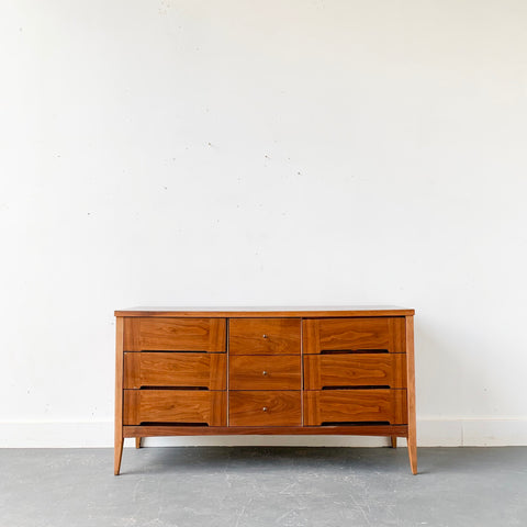Mid Century Modern Low 9 Drawer Dresser