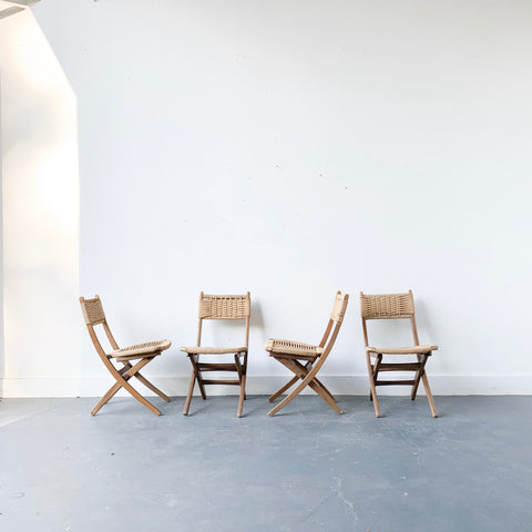 Set of 4 Woven Rope Chairs
