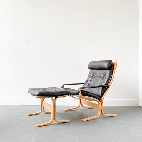 Siesta Chair and Ottoman by Ingram Relling for Westnofa