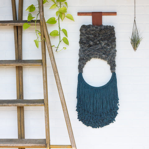 Large Woven Wall Hanging with Open Circle