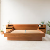 Danish Teak King Size Platform Bed with Nightstands