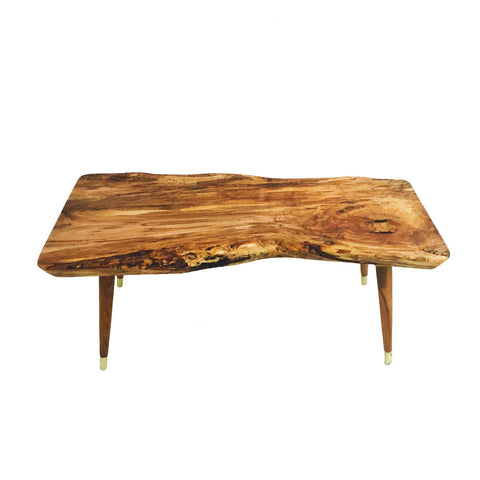 Live Edge Ambrosia Maple Coffee Table