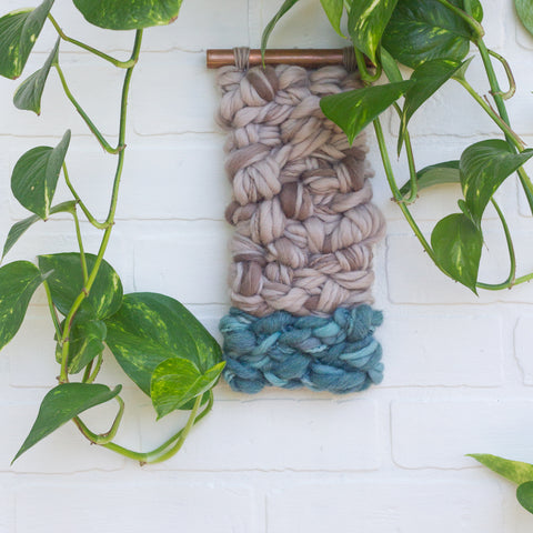 Woven Wall Hanging on Copper Pipe
