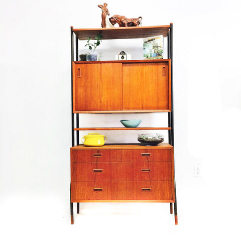 Lyby Mobler Danish Teak Wall Unit