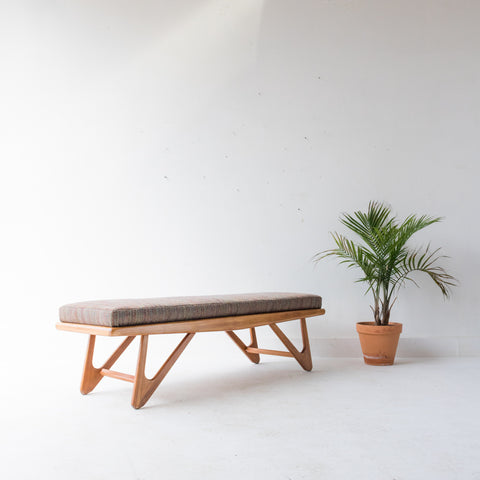 Mid Century Pearsall/Kroehler Style Bench