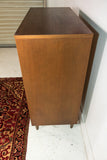 Mid Century Highboy Dresser with Brass Pulls