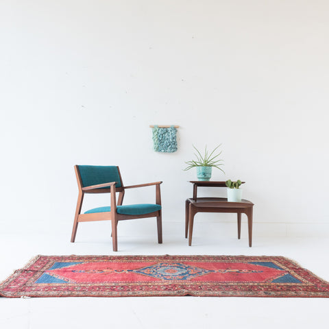 Mid Century Lounge Chair with New Upholstery