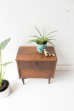 Mid Century Louvered Front Nightstand