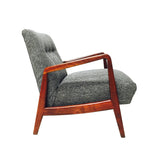 Jens Risom Walnut Lounge Chair