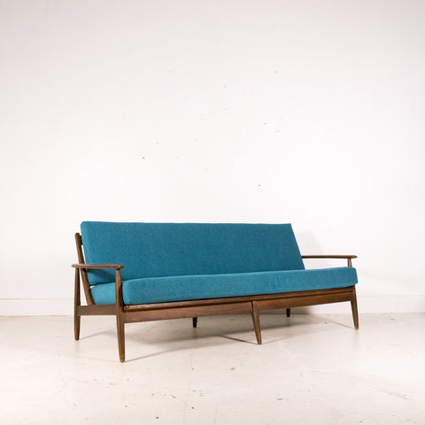 Mid Century Sofa with New Upholstery