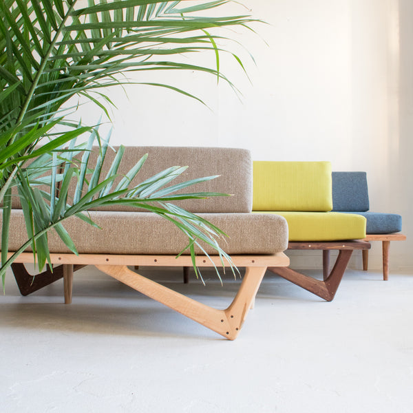 Mid Century Inspired Platform Sofa Atomic Furnishing
