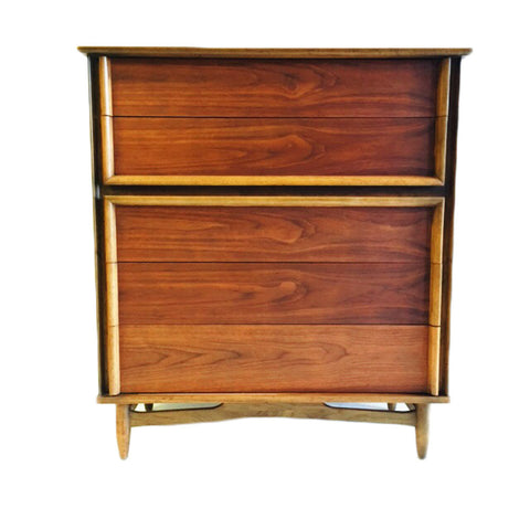 Mid Century Walnut Highboy