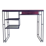 Mid Century Wrought Iron Purple Heart Desk