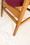 Pair of Raspberry Gunlocke Occasional Chairs