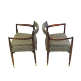 Pair of Beige/Brown Occasional Chairs