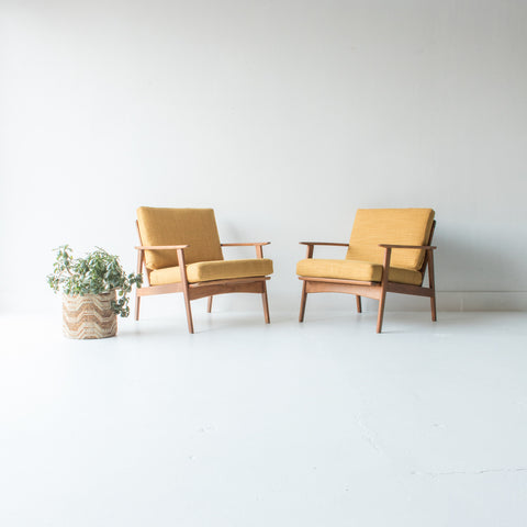 Pair of Mid Century Lounge Chairs
