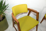 Pair of Gunlocke Chairs - New Chartreuse Upholstery