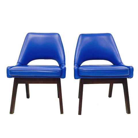 Pair of Blue Occasional Chairs