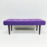 Atomic Tufted Bench/Ottoman (Purple)