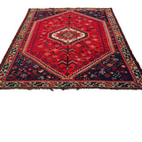 Qashqai Shiraz Rug with 1 Medallion
