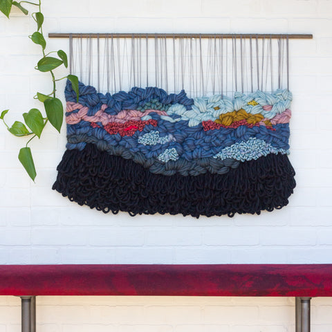 Large Multi-Colored Woven Wall Hanging