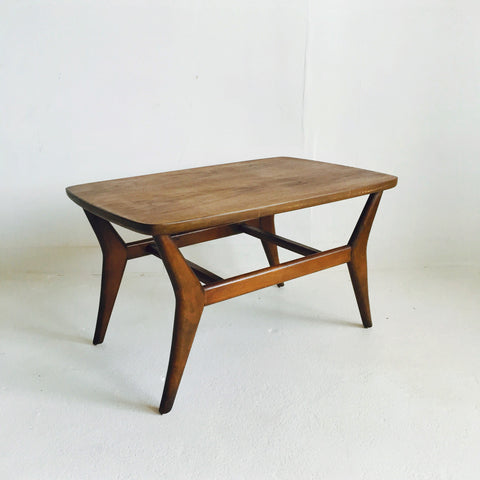 Sculpted Walnut End Table