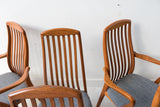 Set of 6 Danish Teak Dyrlund Dining Chairs