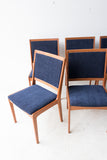 Set of 8 Mid Century Modern Teak Dining Chairs