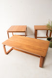 Solid Teak Coffee and End Table Set