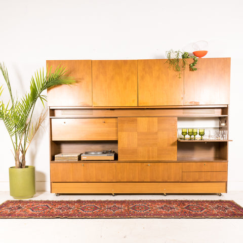 Teak Wall Unit/Bar Cabinet