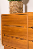 Teak 6 Drawer Dresser on Plinth Base